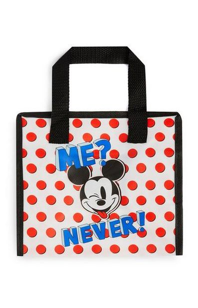 White And Red Polka Dot Mickey Mouse Lunch Bag offer at $4