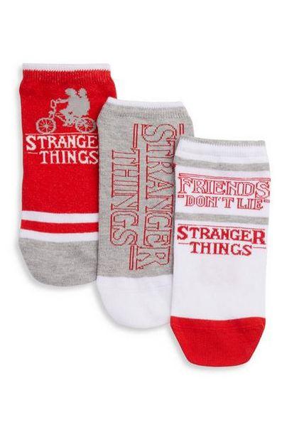 3-Pack White Stranger Things Sneaker Socks offer at $4