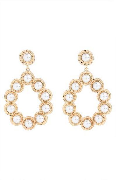 Gold Mini Pearl Knocker Earrings offer at $4