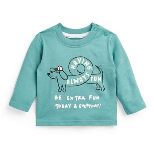 Baby Boy Blue Slogan Long Sleeve T-Shirt deals at $3