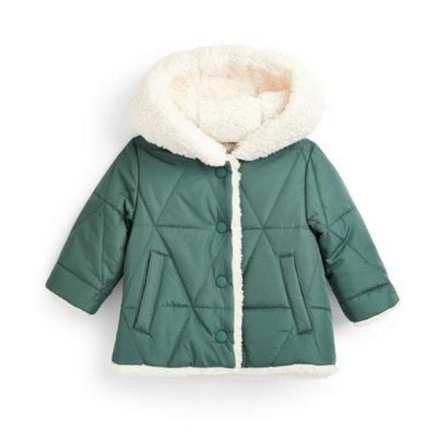 Baby Girl Green Fleece Hooded Jacket deals at $18