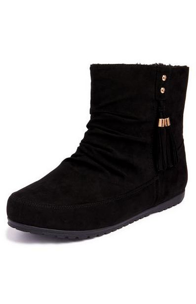 Black Tassel Boots offer at $11