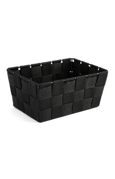 Black Woven Storage Box offer at $3.5