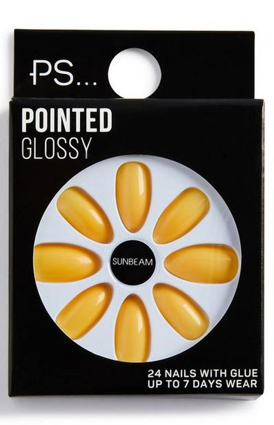 PS Sunbeam Pointed Glossy Faux Nails deals at $2