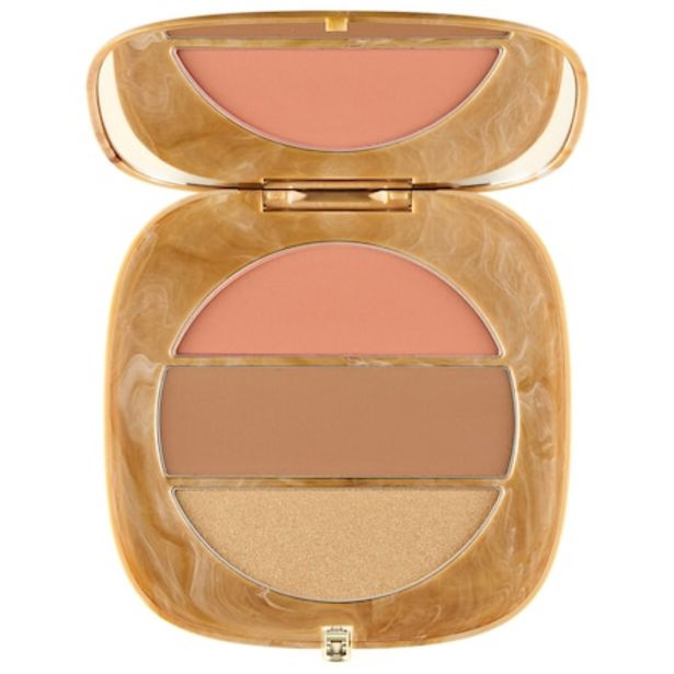 O!Mega x Three Powder Blush-Bronze-Highlight Palette offer at $34