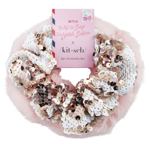 """Netflix """"To All the Boys I've Loved Before"""" Scrunchie Set offer at $9"""