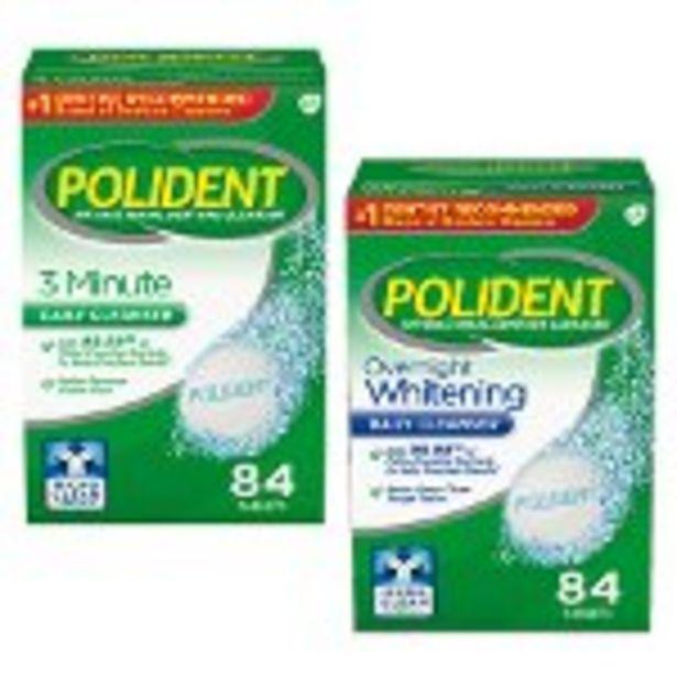 Save $2.00 on Polident Denture Cleanser Tablets - Expires: 10/23/2021 deals at