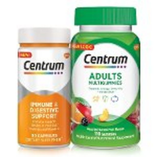 Save $4.00 on Centrum® MultiGummies® or New! Centrum® Targeted Supplements - Expires: 10/23/2021 deals at