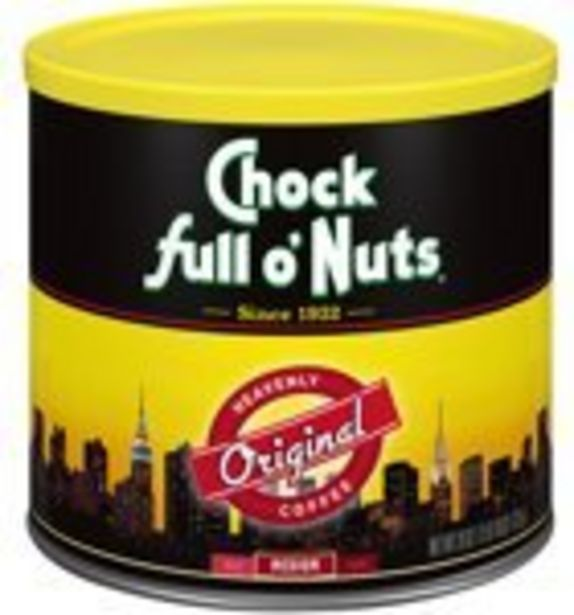 Save $1.00 On Chock full o'Nuts Ground Coffee - Expires: 10/23/2021 deals at