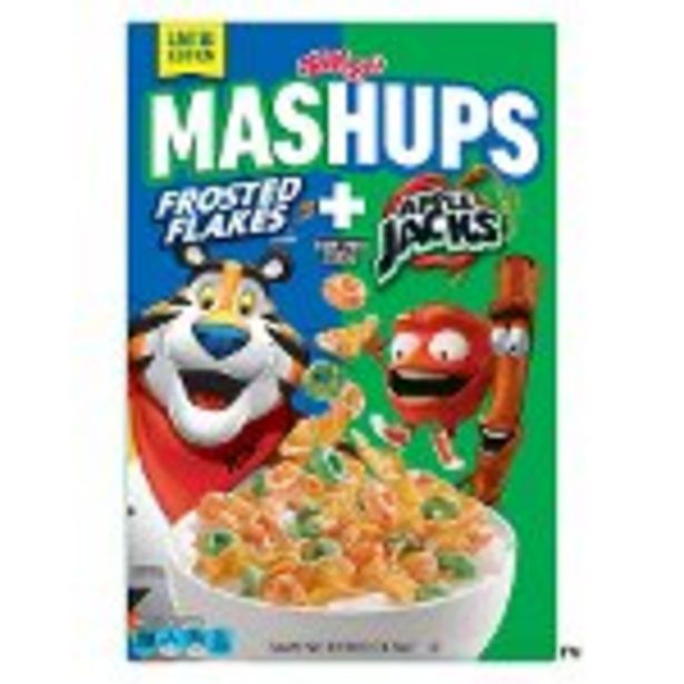Save $1.00 on Kellogg's® MASHUPS™ Frosted Flakes™ + Apple Jacks® Cereal - Expires: 09/04/2021 deals at