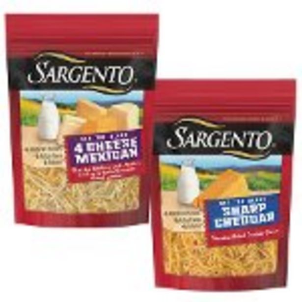 Save $0.75 on 2 Sargento® Shredded Cheese Product - Expires: 08/28/2021 deals at