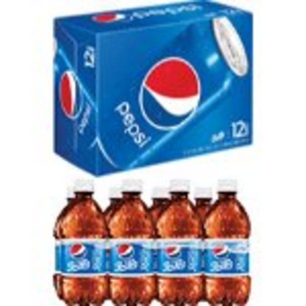 Save $1.12 On Pepsi Cans 12-Pack or 8 Pack Bottles - Expires: 10/30/2021 deals at