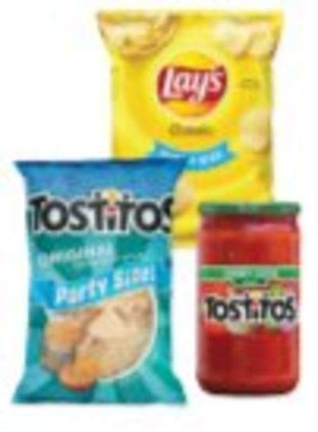 Save $1.00 On Frito Lay Snacks Party Size Snacks or Salsa - Expires: 10/16/2021 deals at