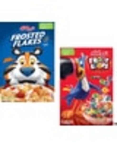 On any TWO (2) Kellogg's® Cereals (7.2 oz. or Larger, Any Flavor, Mix or Match) deals at $1