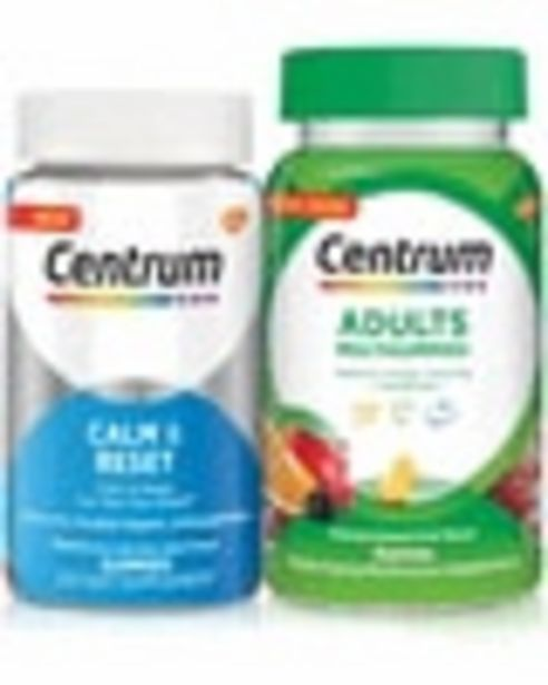 On any ONE (1) Centrum MultiGummies (50ct or larger) or New! Centrum Targeted Supplements (30ct or larger) deals at $3
