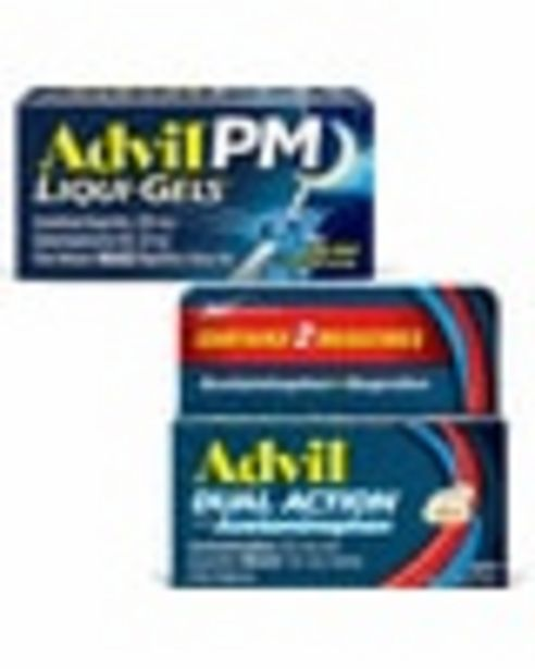 On ONE (1) Advil or Advil PM 18ct or larger deals at $1