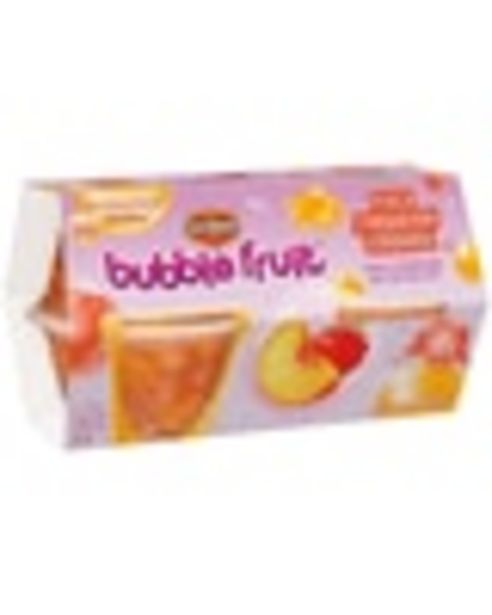 On any TWO (2) 4-pack Del Monte® Bubble Fruit™ Fruit Cup® snack, any flavor deals at $1