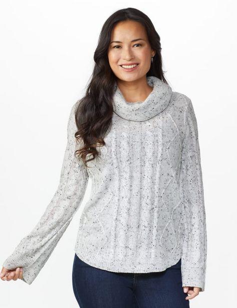 Novelty Sleeve Curved Hem Sweater deals at $2499