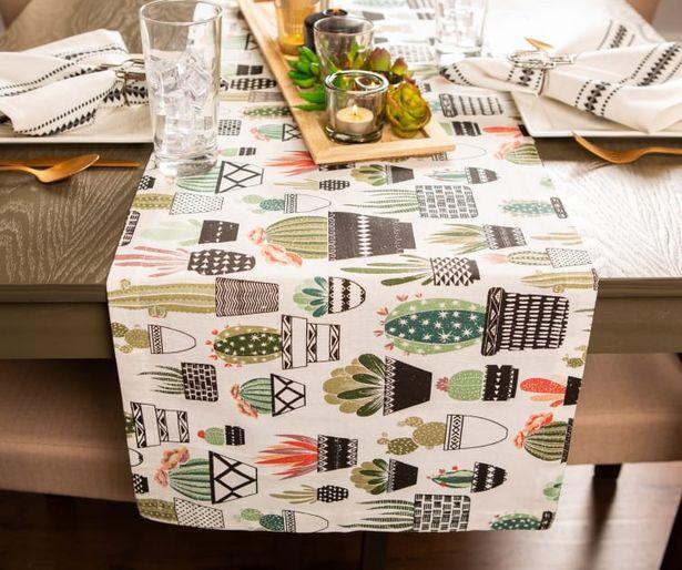 Urban Oasis Cactus Print Table Runner 14x72 deals at $17.95