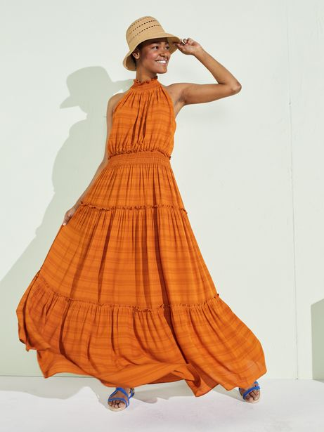Taylor Dresses Cut Away Smocked Maxi Dress deals at $7499