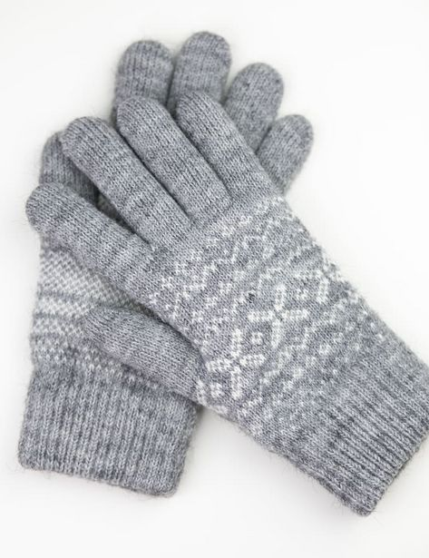 Snowflake Knit Touch Gloves deals at $7.99