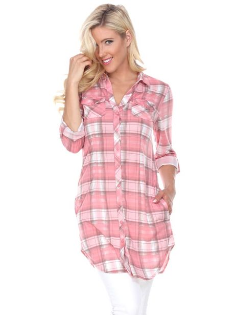 Piper Stretchy Plaid Tunic deals at $60.95