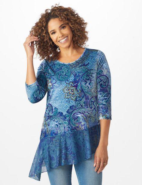 Velvet Asymmetrical Hem Knit Top deals at $19.95
