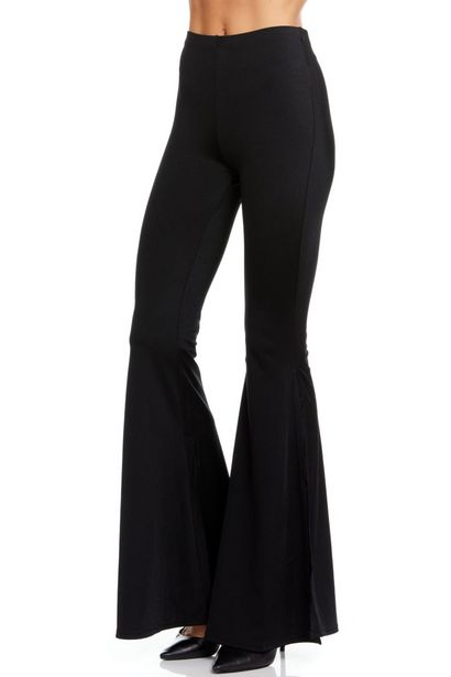 Wide Leg Pull On Pant Solid Black deals at $39.95