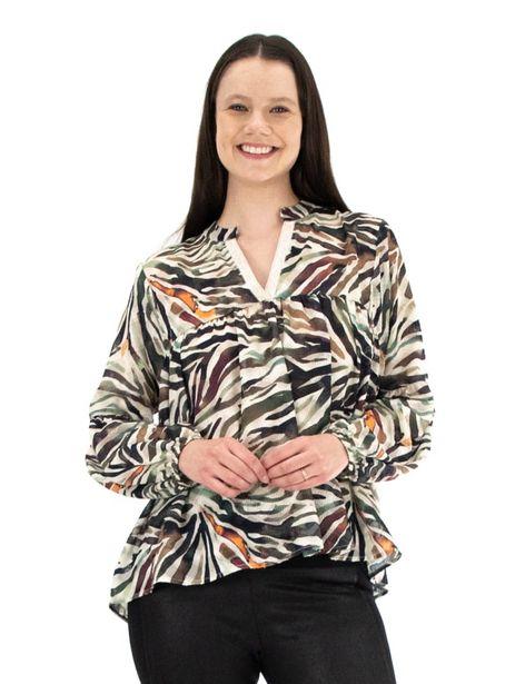 Zac & Rachel Long Sleeve Novelty V-Neck Blouse deals at $44.95