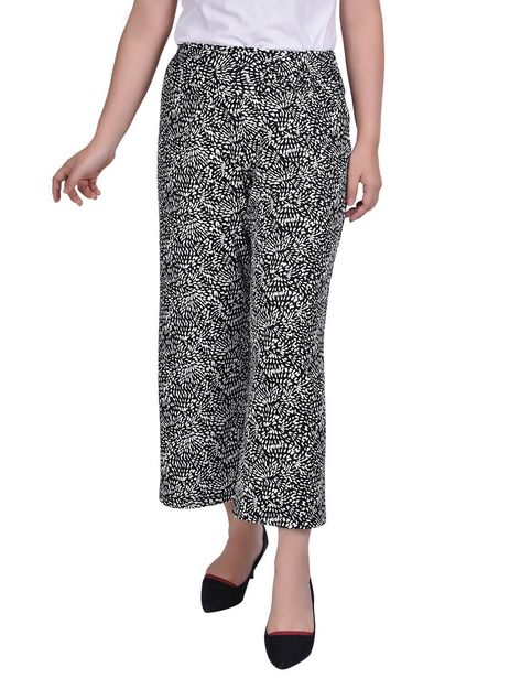 Ny Collection Cropped Pull On Pants With Faux Belt deals at $33.95