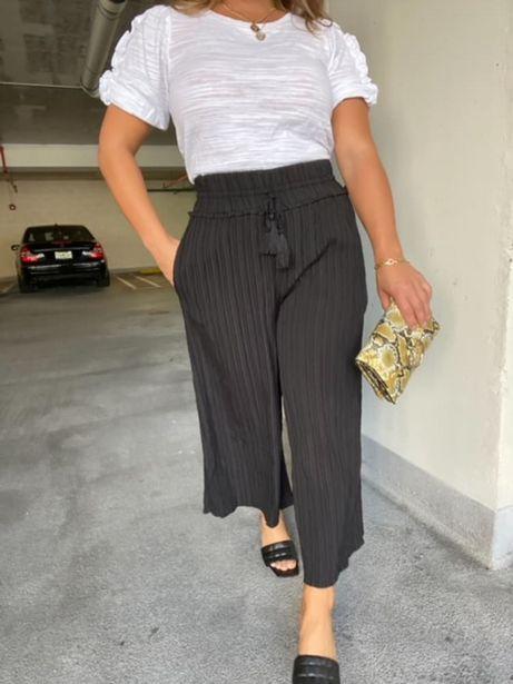 Textured Cropped Pallazo Pants deals at $44.95