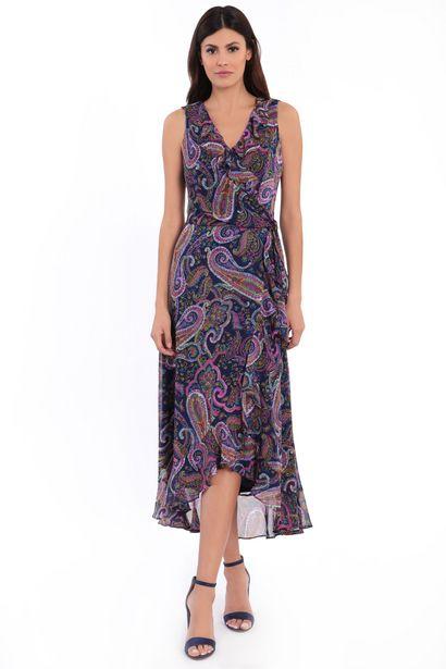 Mariah Paisley Print Ruffle Maxi Dress deals at $6995