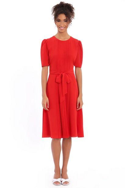 Catalina Grace Jewel Pleated Neck Midi Dress deals at $39.99