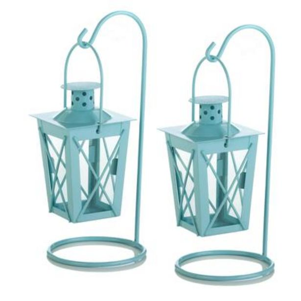 Baby Blue Hanging Railroad Lantern Pair deals at $1799