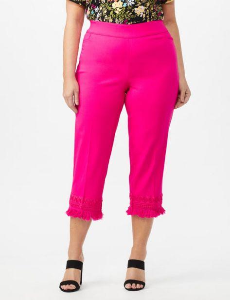 Zac & Rachel Pull on Crop Pants with Novelty Fringe Hem deals at $44.95