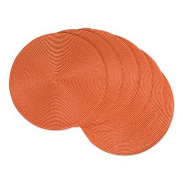 Orange Round Polypropylene Woven Placemat (Set of 6) deals at $27.95