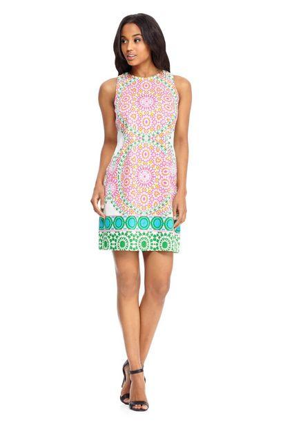 Cecilia Flower Tile Shift Dress deals at $39.99
