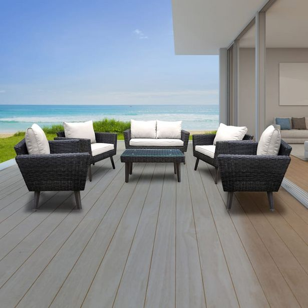 Kotka 6 Piece Wicker Outdoor Patio Sofa Seating Set With Cushions deals at $2599.99