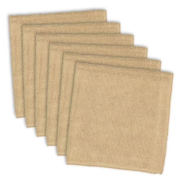 Taupe Microfiber Essential Dishcloth (Set of 6) deals at $17.95
