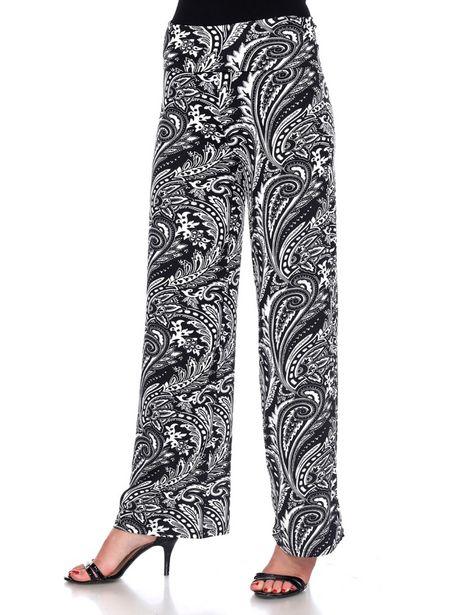 Black/White Paisley Printed Palazzo Pants deals at $52.95
