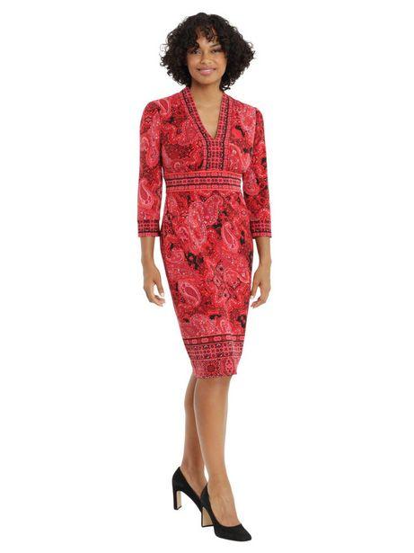 Paisley Print Sheath Dress deals at $74.95