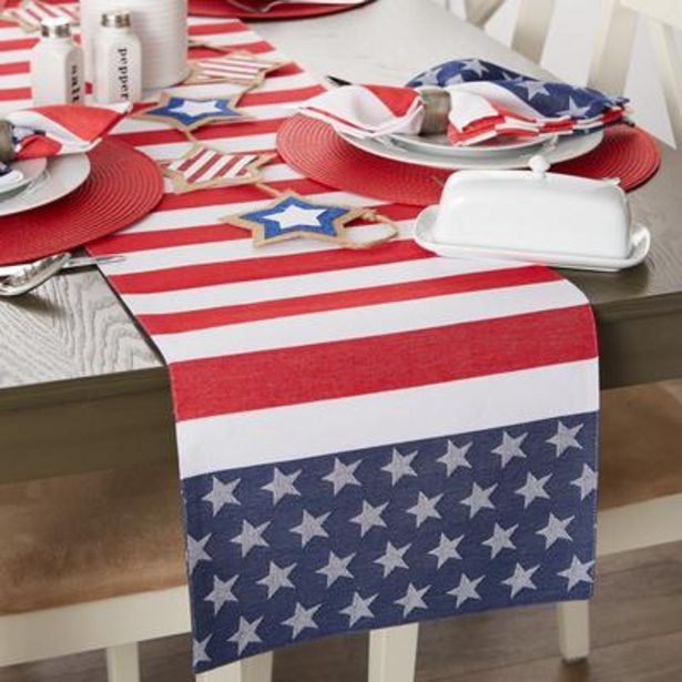 Stars and Stripes Jacquard Table Runner 14x72 deals at $23.95