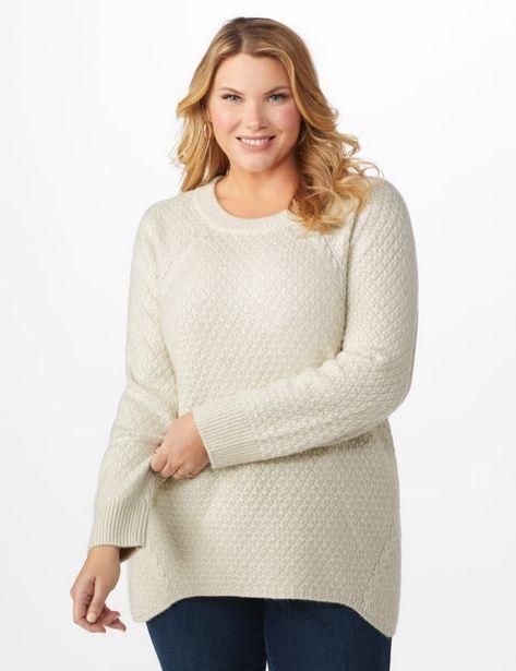 Lurex Sharkbite Pullover Sweater - Plus deals at $2995