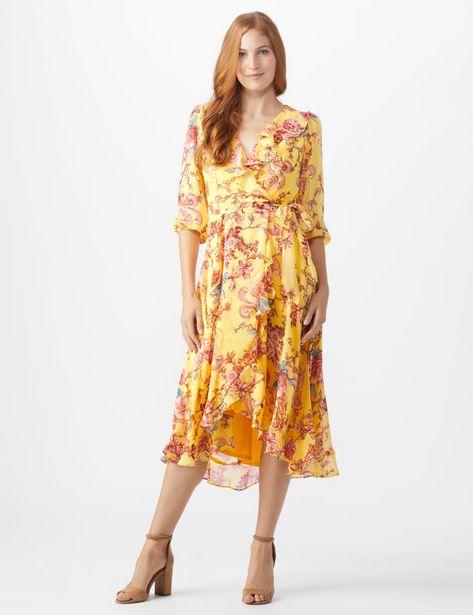 Floral Scroll Print Dress deals at $26.95