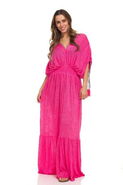 Solid Boho Beach Cover-Up Maxi Dress deals at $4995