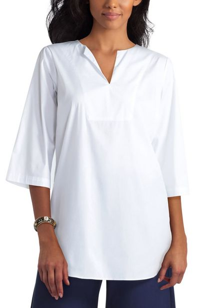 Isaac Mizrahi Split Neck Tunic deals at $78.95