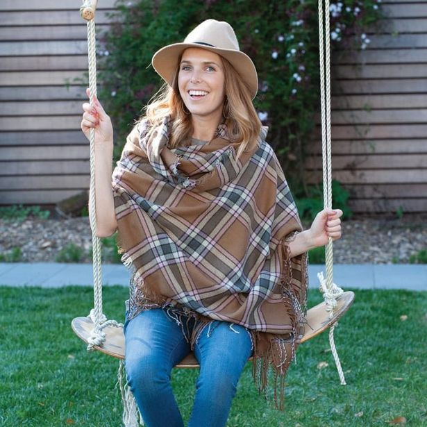Camel/Pink Plaid Wrap Blanket Scarf deals at $29.95