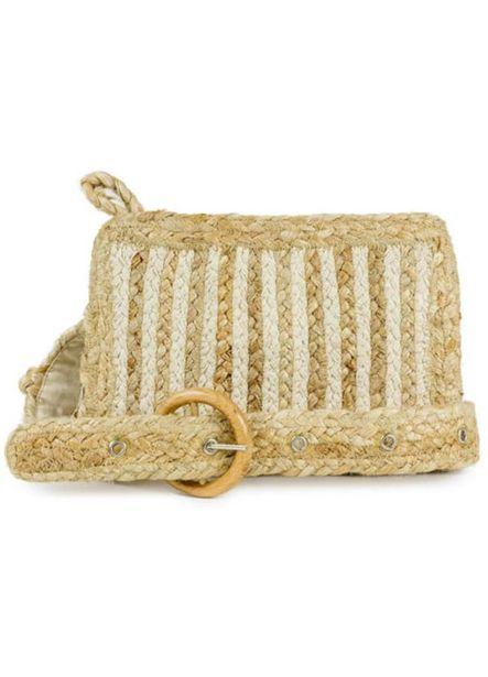 Striped Woven Straw Waist Belt Bag deals at $49.95