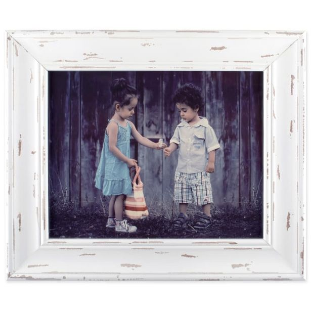 8x10 Distressed White Farmhouse Picture Frame deals at $28.99