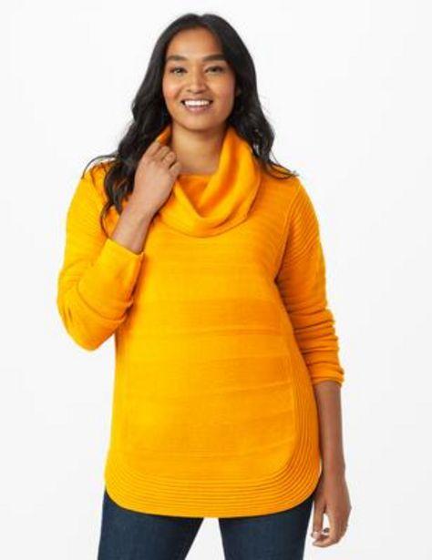 Ottoman Stitch Curved Hem Sweater deals at $1999